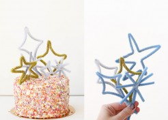 The Easiest New Year's Eve DIY Cake Topper