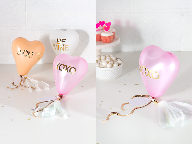 DIY Conversation Heart Balloon Valentines by Splendid Supply Co. for Mumtastic.