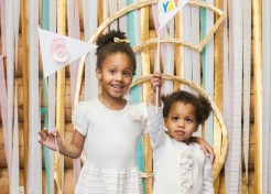 DIY Number Outline Birthday Party Photo Booth Backdrop