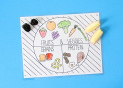 [FREE PRINTABLE] Well Balanced Food Groups Placemat for Kids