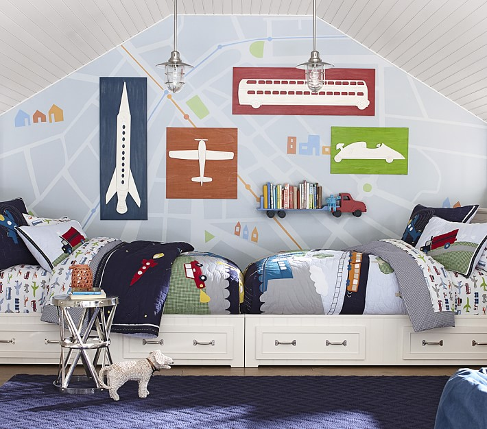 Room For Two Shared Bedroom Ideas: Brotherly Love: How To Decorate A Bedroom For Two Boys