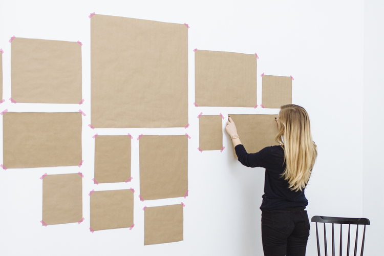 gallery wall mock up brown paper