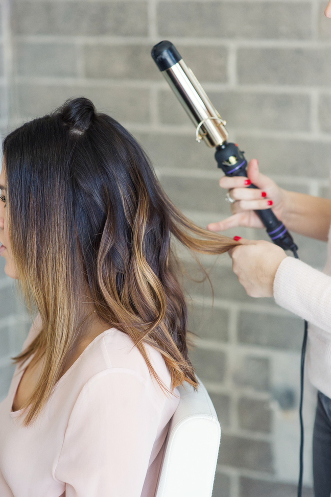 large barrel curling iron