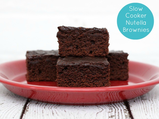 slow cooker nutella brownies