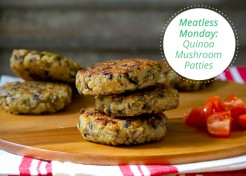Meatless Monday: Quinoa Mushroom Patties Recipe