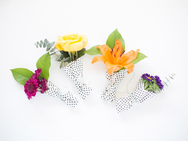 mini-bouquets-polka-dot-fabric