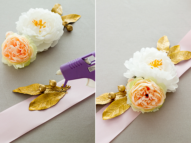 How To Make A Diy Floral Sash Using Silk Flowers Step By Step With