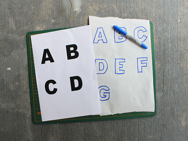 DIY.. Alphabet Coffee Table Coasters