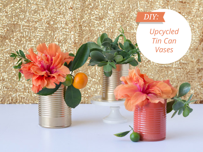 Diy Upcycled Tin Cans Turn Them Into Vases