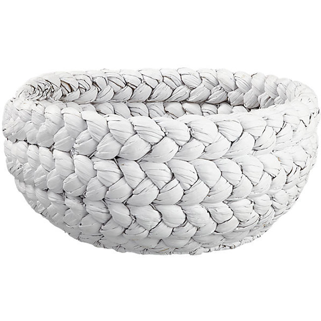 Chic white woven basket