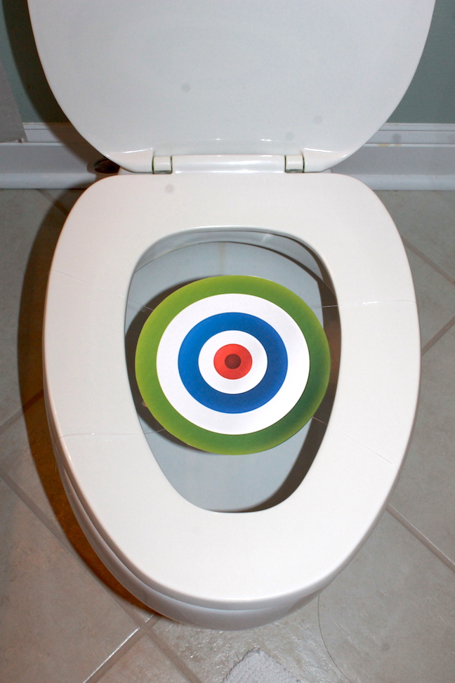 toilet with target