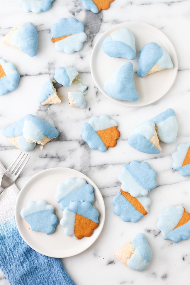 Baby Shower DIY // Color Blocked Cookies for Gender Reveal