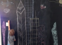 No-Commitment Chalkboard Wall (Perfect for Renters)