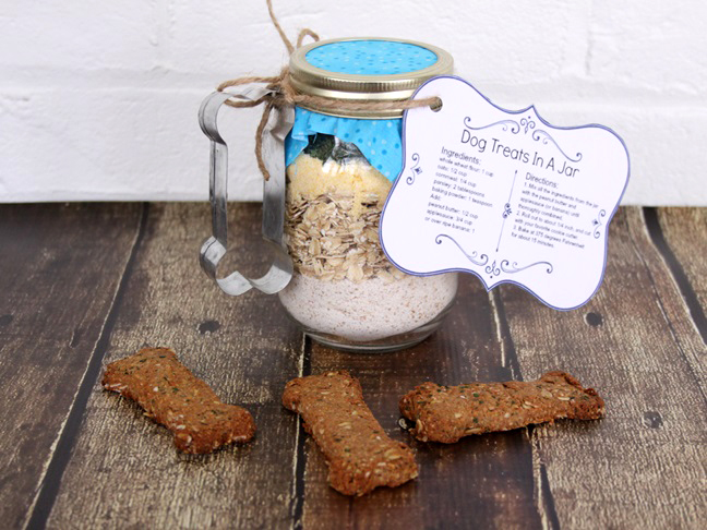 dog treats in a jar step d