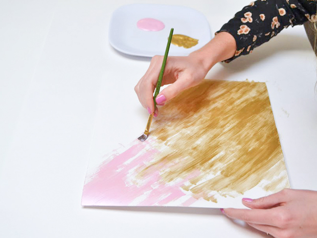 how-to-make-paper-kite-paint-pink-gold-watercolor