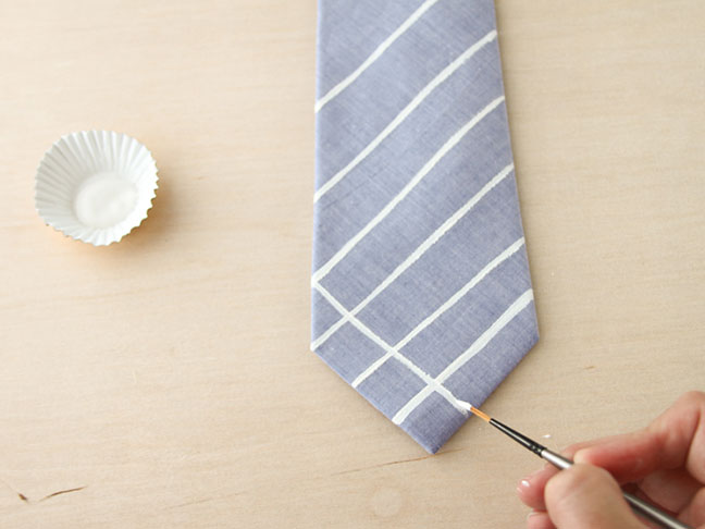 How To Hand Paint a Tie // Step 3