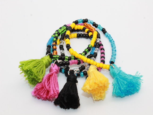 DIY Mini Tassel Bracelets for Mum; mumtastic.com