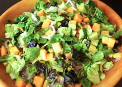 Minty Melon Chopped Salad with Lemon Poppy Seed Dressing