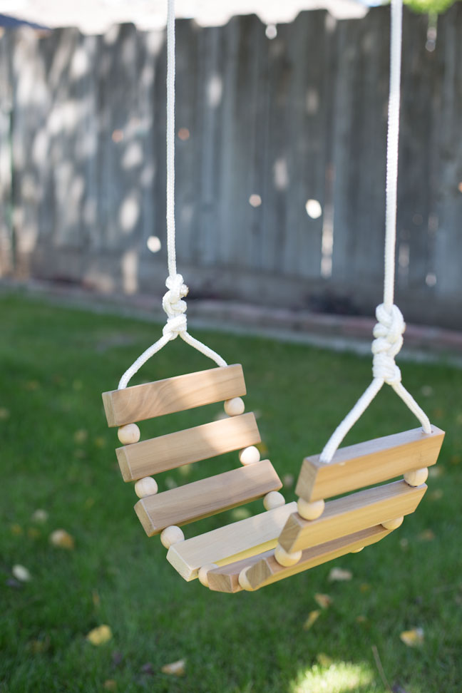 Diy tree swing for kids adults for Building a wooden swing