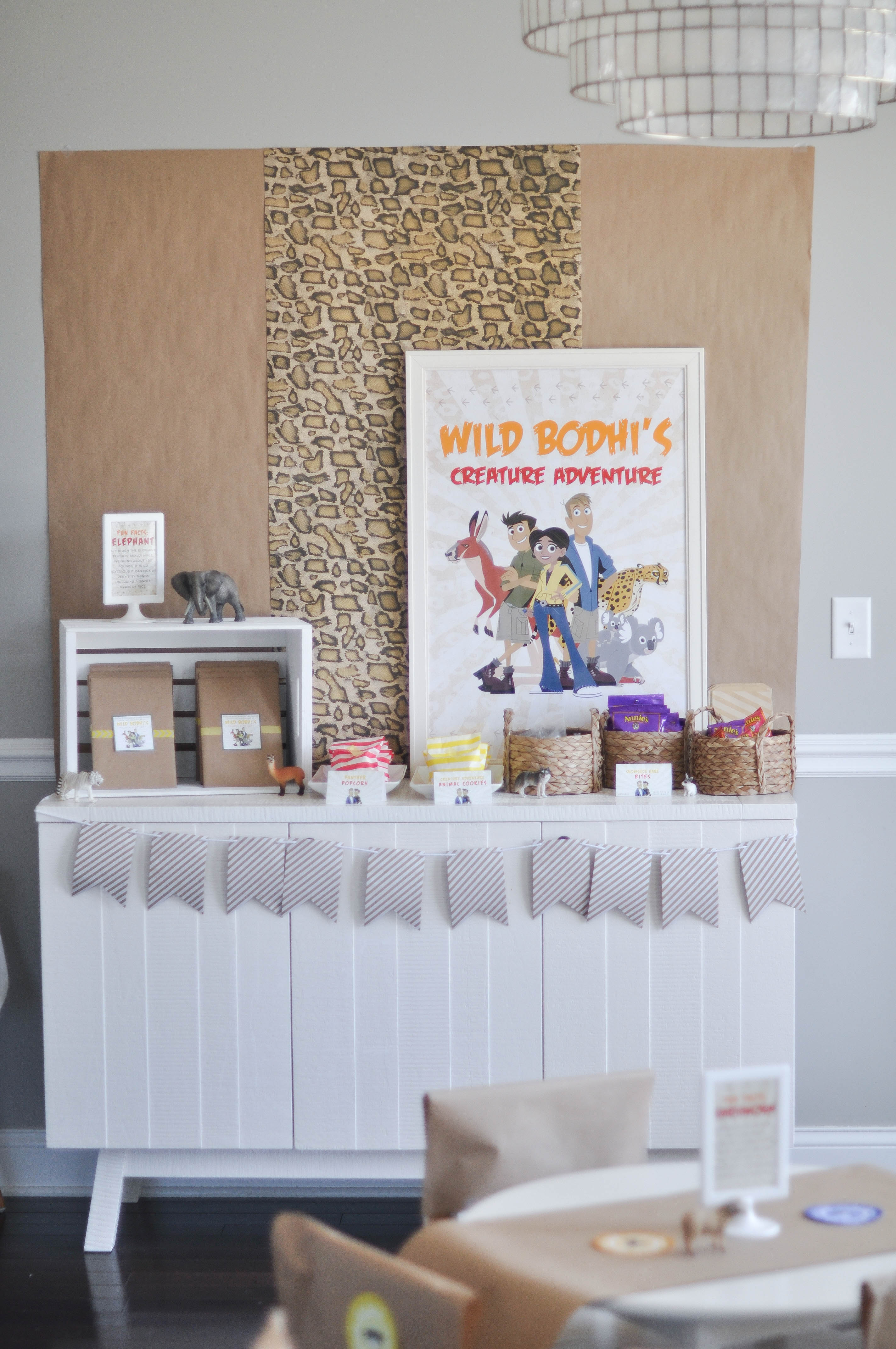 A Wild Kratts fourth birthday celebration plus a budget friendly backdrop