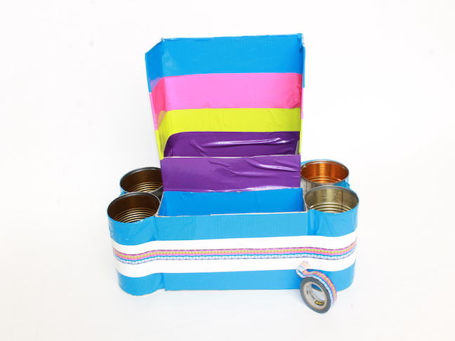 DIY Homework Station: duct tape, washi tape