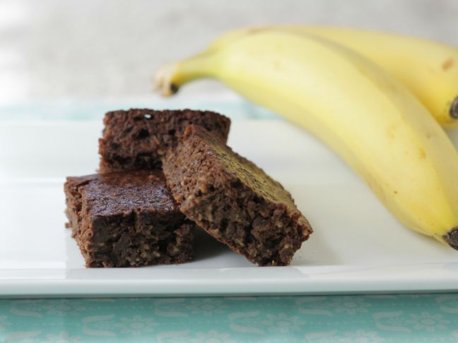 gluten free banana brownies