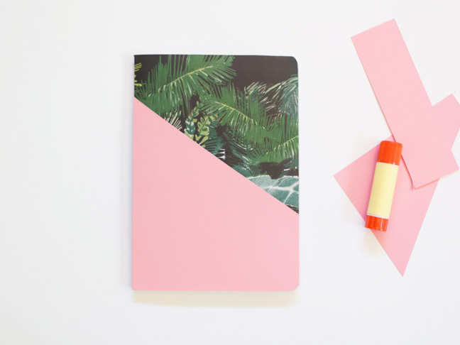 notebook-pink-paper-glue-stick