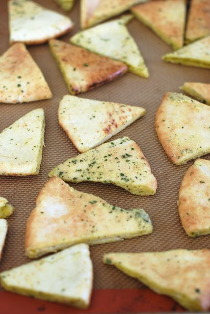 Seasoned Pita Chips Ready to Bake