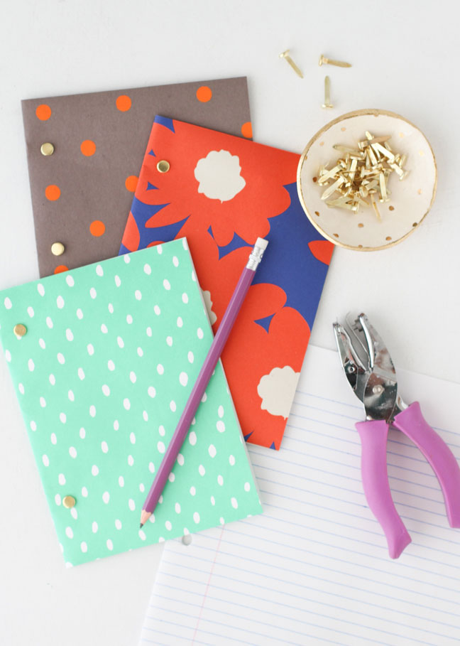 Back to School DIY // Easy Notebooks for Kids