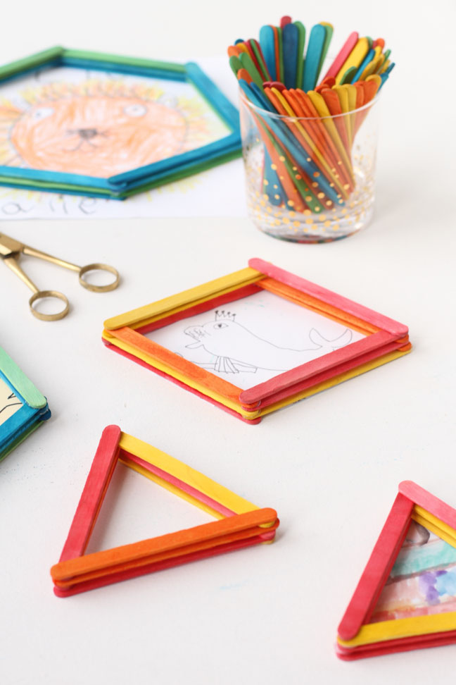 How to Reuse Popsicle Sticks to Create 3D Picture Frames in Minutes