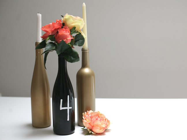 DIY Wine Bottle Centerpiece Momtastic