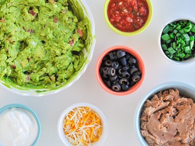 Ingredients for guacamole