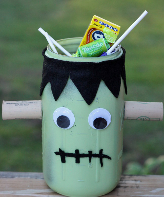 Mason Jar Monsters Frankenstein