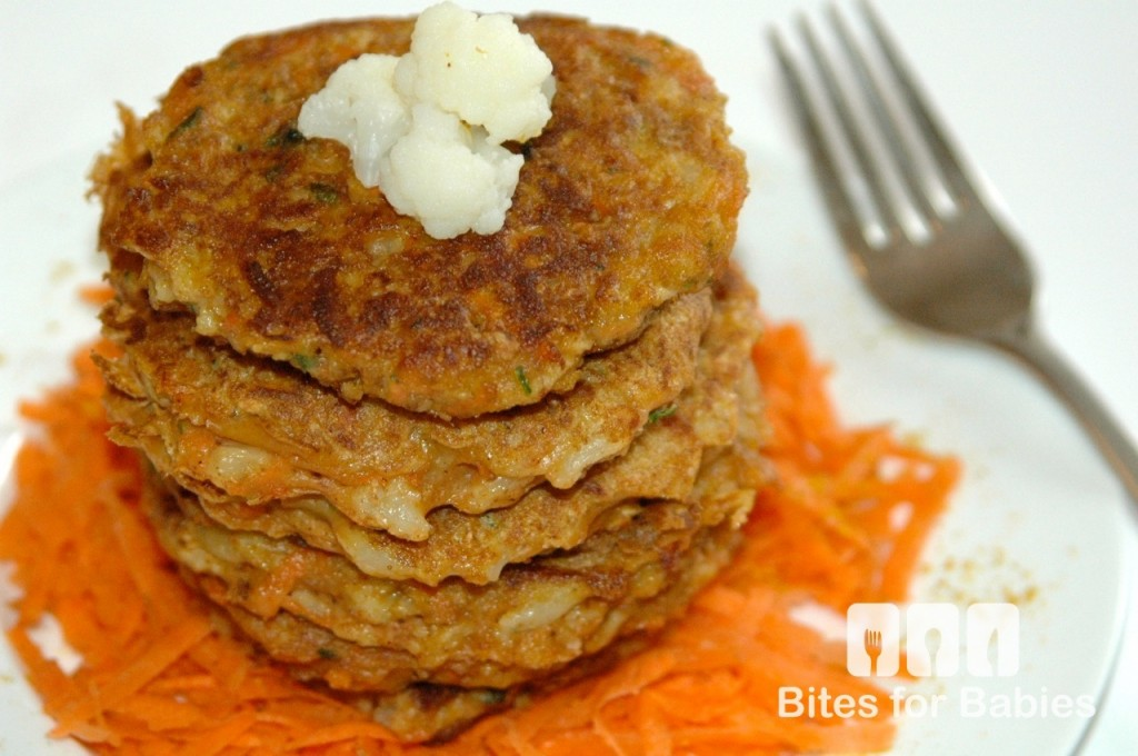 Curried Cauliflower Carrot Fritters