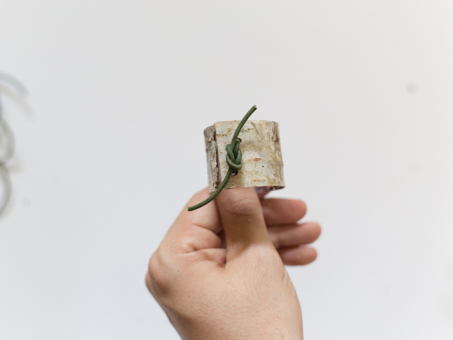 green-leather-square-knot-birch-napkin-ring