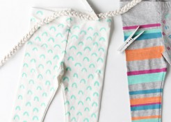 Give Inexpensive Baby Leggings a Colorful DIY Makeover