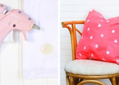 DIY Wax Resist Alternative: Try This Hot Glue Resist Technique to Create Cool Patterns on Fabric