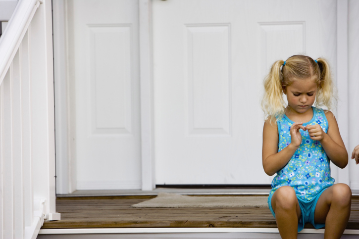 little-girl-home-alone-pigtails