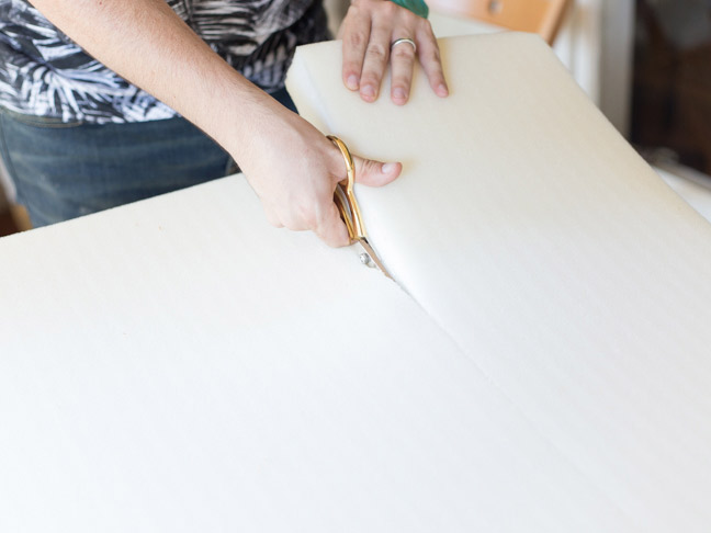 scissors-cutting-upholstery-foam