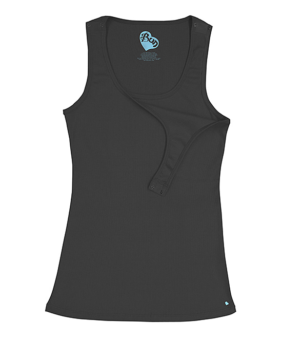 black nursing tank top
