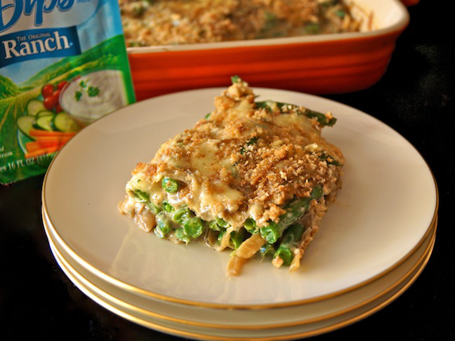 Hidden Valley Original Ranch Green Bean Caramelized Onion Casserole - Momtastic