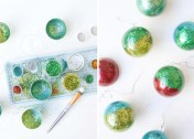 Chic Glitter Ornaments You'll Want to Make, Even if You're Not a DIYer