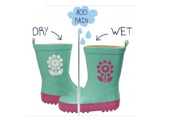 squid kids colour changing wellies