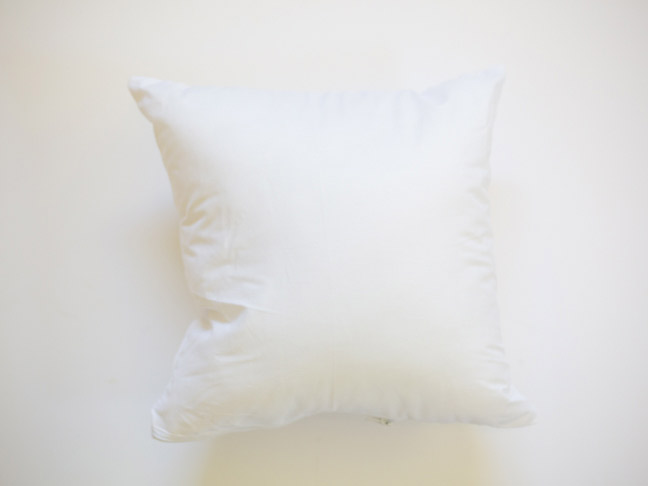 white-throw-pillow