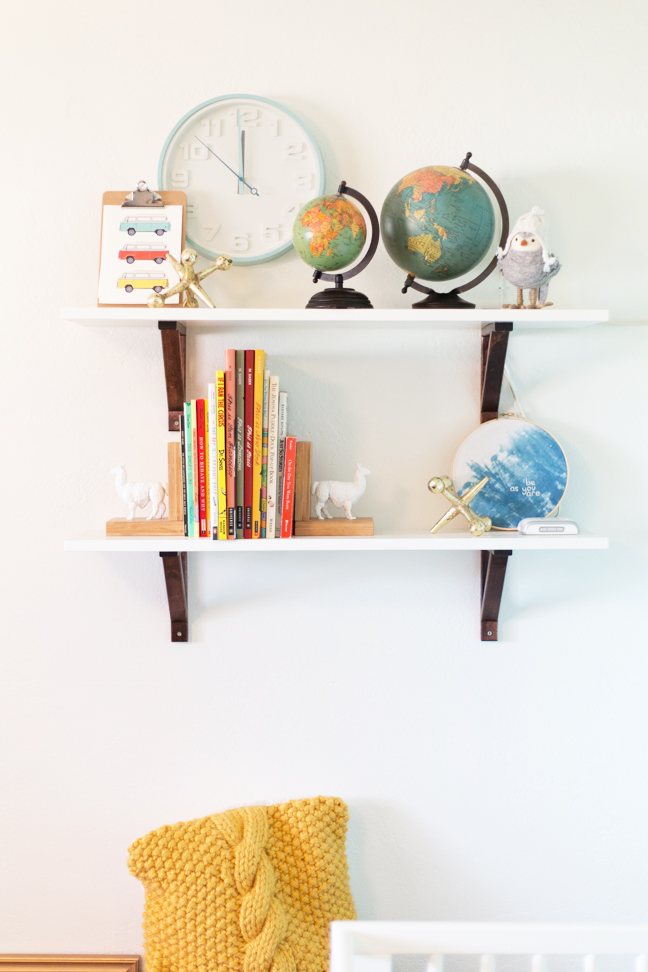 easy diy baby nursery shelves rh momtastic com baby nursery bookshelves baby nursery wall shelves