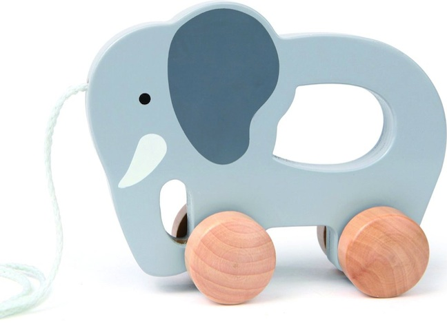 Push & Pull Elephant by Hape