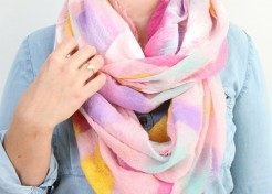 Add a Pop of Color this Winter With a DIY Watercolor Scarf