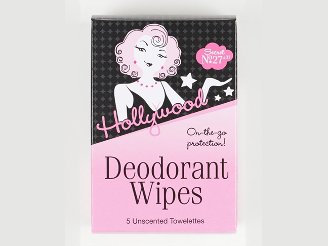 hollywood deodorant wipes