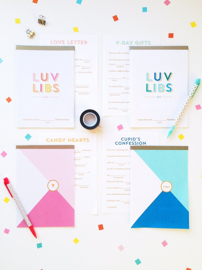 DIY Valentine's Day Mad Libs Notebooks | Shauna Younge