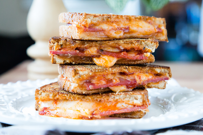pepperoni grilled cheese